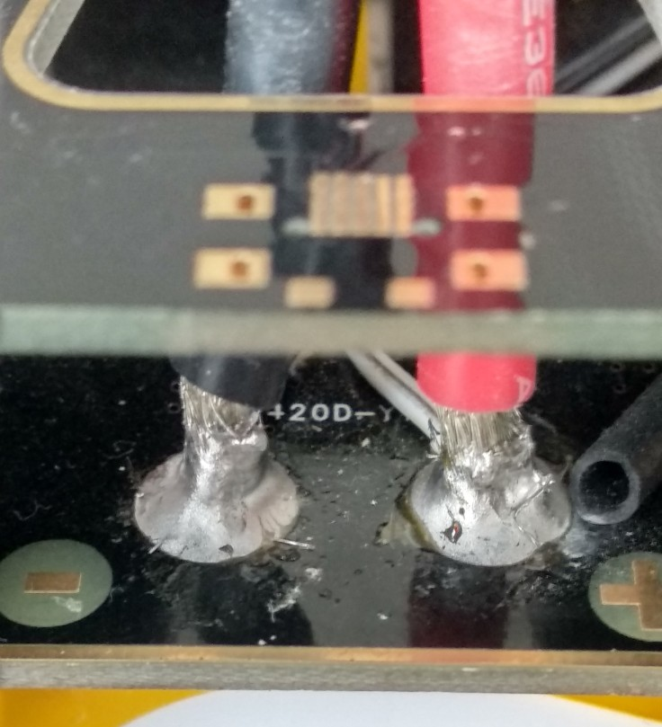 Lötstellen DJI S550 Verteiler